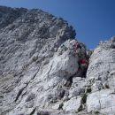 Nadaljni vzpon po Hanzovi poti na Malo Mojstrovko.