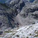 Čez melišče pot v dolino za Cmirom.