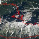 Gor in dol, vsega vzpona 1984m in 15,2km.