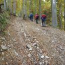 Strmina proti Lesanski planini.