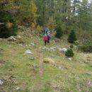 Kotlinica med Dobrča-vrh in Šentanskim vrhom - razgledno točko.