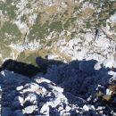 S Kalške gore poglec na Cojzovo kočo na Kokrškem sedlu.