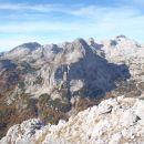 Mišel greben, levo Debeli vrh, Kanjevec, Šmarjetna glava...