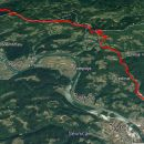 Od Z.mosta čez V.kozje-Lovrenc-Lisca do Sevnice 21,9km in 1280m vzpona
