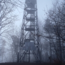 Zaradi zamegljenosti se nisva povzpela na vrh stolpa.