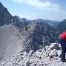 Levo Vrtača, Zelenjak in desno Ovčji vrh v Avstriji.