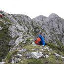 Na grebenu proti vrhu Storžiča.