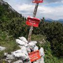 Sedlo med Storžičem in Bašeljskim vrhom.