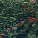 Od Vuzenice do Sl.Gradca 15,6km in 995m vzpona