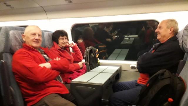 Potovanje z vlakom.