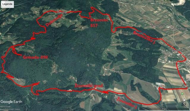 Braslovče-Brezovec-Grmada,Žovneški grad in jezero, krog 21,5km