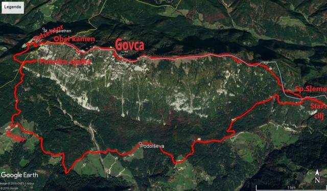 17,9km,Sp.Sleme,lepi in gladki vrh,Govca,Obel k.Lipševa vrata,potočka z.