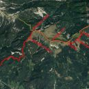14,3km in 1968m vzpona od Dovja-Baba-Hruški vrh-Golica-koča
