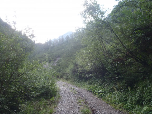 Vzpon proti planini Korošica.