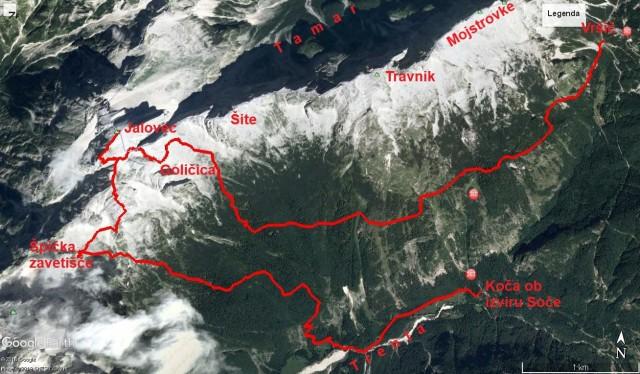 Jalovec - 15,8km, 1415m vzpona in 1792m spusta