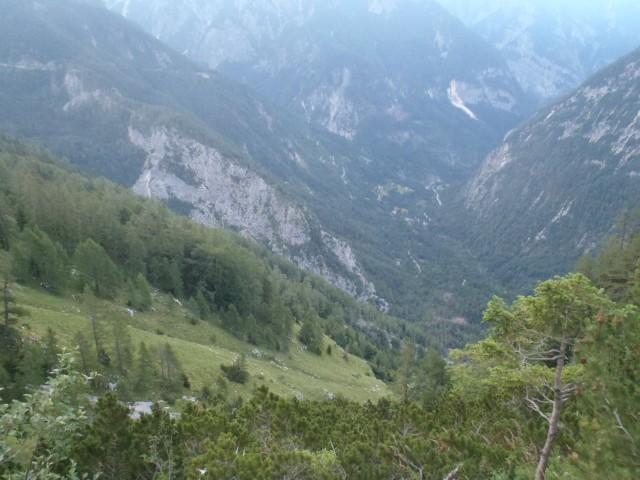Pogled v Trento proti izviru Soče.