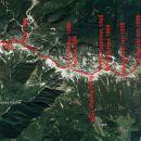 Vzpon in prečenje vrhov označenih na karti.