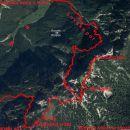 Od Kovinarske koče po lovski gor in po markirani v Krmo.