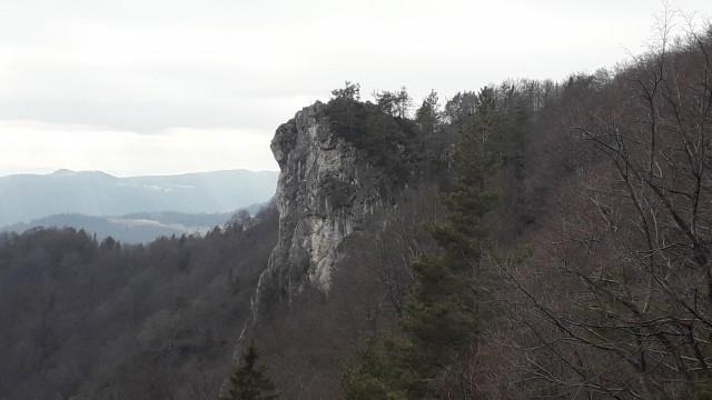 Pogled na sam vrh Kopitnika.