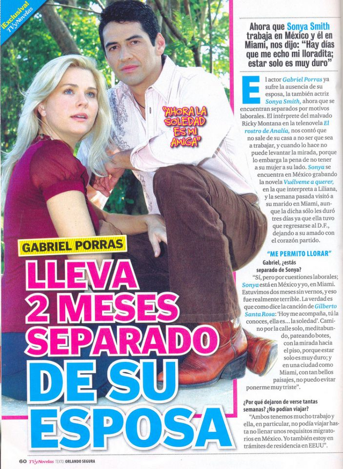 Gabriel Porras Y Sonya Smith