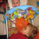 Jaz in moj bratranček Patrik, ki me ima zelo rad.